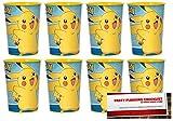 pikachu cup - Pokemon Pikachu 16oz Plastic Favor Cups 8 Pack (Plus Party Planning Checklist by Mikes Super Store)