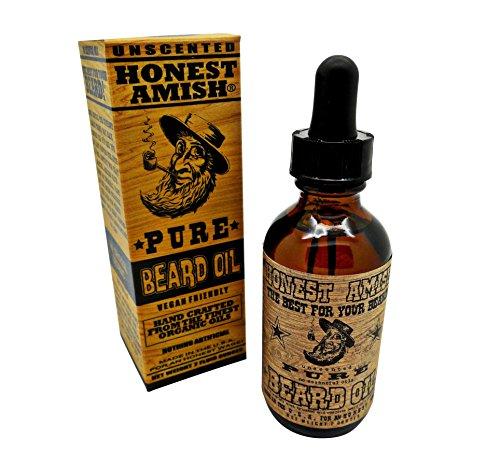 Honest Amish - Pure Beard Oil - 2 Ounce - Fragrance Free