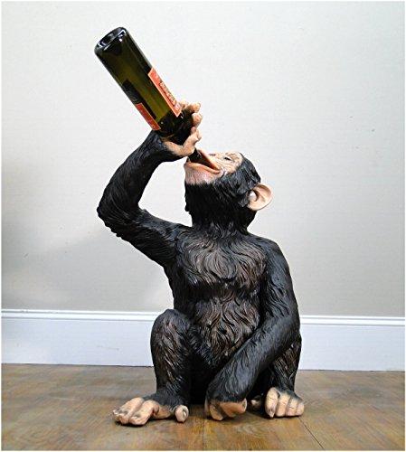 The Kings Bay Drinking Monkey Statue Drunk Butler Wine Bottles Beer Ape Sculpture (Drunk Monkey)