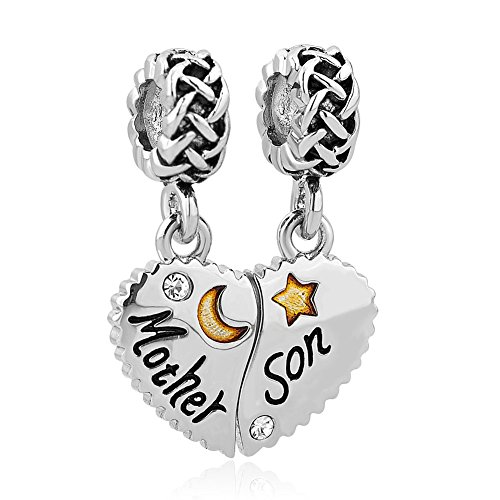 Valentines Day Gifts CharmSStory Mother Son Dangle Charm Bead For Bracelet