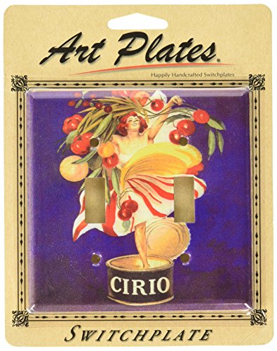 Platos de Arte–Cirio placa de interruptor–doble palanca