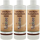 Tupkee Coffee Machine Descaler – Universal, For Drip Coffee Maker and Keurig Coffee Machines Descaling & Cleaning Solution, Breaks Down Mineral Buildup and Limescale - Pack of 3