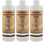 Tupkee Coffee Machine Descaler – Universal, For Drip Coffee Maker and Keurig Coffee Machines Descaling & Cleaning Solution, Breaks Down Mineral Buildup and Limescale – Pack of 3