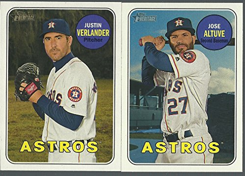 2018 Topps Checklist - 2018 TOPPS Heritage HOUSTON ASTROS Base team set 25 Cards World Series Champions Justin Verlander George Springer Carlos Correa Jose Altuve