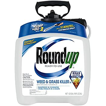 Roundup 5100110 Weed and Grass Killer III Ready-to-Use Pump 'N Go Sprayer, 1.33-Gallon