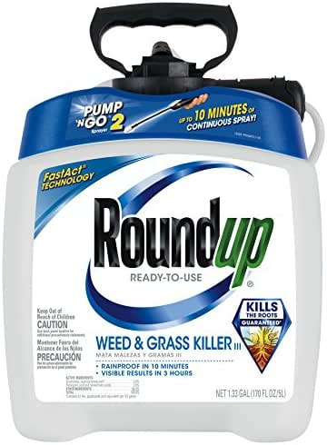 Roundup Ready-To-Use Weed & Grass Killer III with Pump 'N Go 2 Sprayer, 1.33 gal.