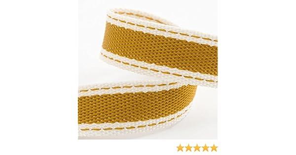 Rollo de cinta de sarga de algodón suave de 15 mm x 10 m, color dorado: Amazon.es: Hogar