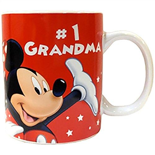 Disney Mickey Mouse Grandma's Ceramic Coffee Beverage Mug - #1 GRANDMA