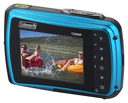 """Coleman Xtreme 18.0 MP HD Underwater Digital & Video Camera (Waterproof to 10 ft.), 2.5"""", Blue (C20WP-BL)"""