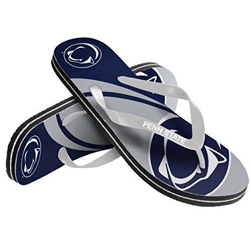 2015 NCAA College Unisex Big Logo Beach Summer Sandal Flip Flops (Penn State Nittany Lions, Medium) -