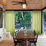 Macochico Rod Pocket Sheer Curtains Indoor Outdoor Moss Voile Draperies Home Fashion Dustproof Privacy Protection Windproof for Living Room Patio Garden Gazebo Backyard 100Wx 102L (1 Panel)