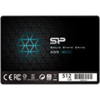 Silicon Power-512 GB SSD 3D NAND A55 SLC Cache Performance Boost SATA III 2,5 cala 7 mm (0,28 cala) wewnętrzny dysk…