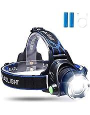 Sotical Veamor LED Stirnlampe,Super helle 800 Lumen wasserdichter Lampen USB Wiederaufladbare 3 Lichtmodi, Verstellbares Band, zum Laufen, Camping, Radfahren, Angeln andere Outdoor Sport