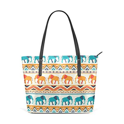 COOSUN Tier Elefant Muster PU Leder Schultertasche Handtasche und Handtaschen Tasche für Frauen