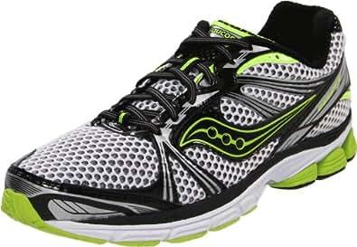 Saucony Men's Progrid Guide 5 Running Shoe,Black/White/Citron,7 M US