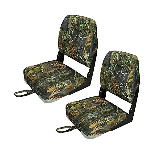 Premium Fishing/Hunting Low Back Fold-Down Boat Seats Seating boat accessories 4 Color 2 Packs (Camo)