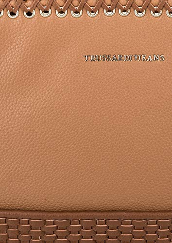 TRUSSARDI SMOOTH ECOLEATHER BAG SATCHEL MIMOSA rOT5Uqwr