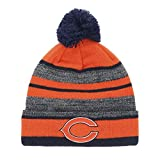 OTS NFL Chicago Bears Men's Huset Cuff Knit Cap with Pom, Team Color, One Size