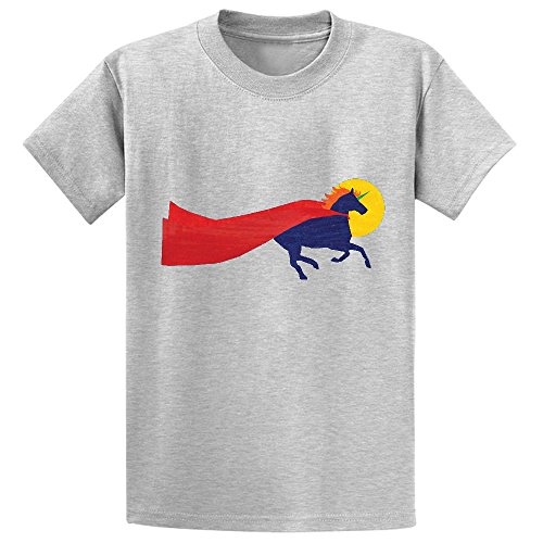 Unicorn Dreams Run Girls Crew Neck Customized Tee Grey