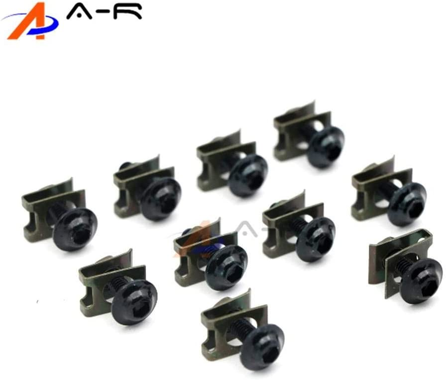 Color: Black Fittings 10pcs 6mm CNC Motorcycle Fairing Body Work Bolts Screws for Yamaha XJ6 Diversion 2009-2015 2010 2011 2012 2013 2014 YZF R1 R3 R6