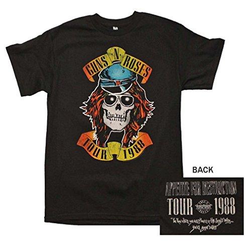 - Bravado Guns 'N Roses Appetite Tour 1988 T-Shirt - BlackLarge