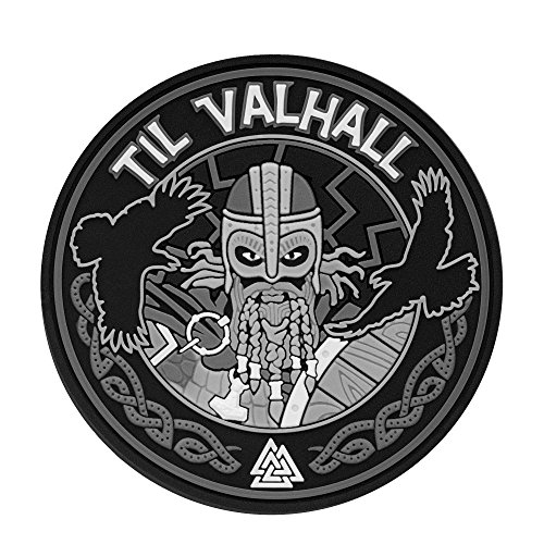 Til Valhall PVC 3D Patch Viking Military & Tactical Army Morale hook fasteners (Grey) -