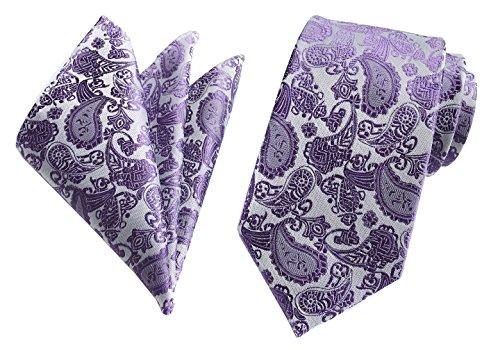 Secdtie Men's Purple Texture Woven Silk Tie HANDMADE Luxury Formal Suit Necktie (Suit Silk Woven)