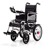 Electric Powered Wheelchair Folding Lightweight 34Kg,Strong And Durable For The Use,Motorized Wheelchairs Convenient For Home And Outdoor Use,Red
