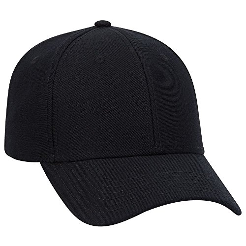 (OTTO Wool Blend Twill 6 Panel Low Profile Baseball Cap - Black)