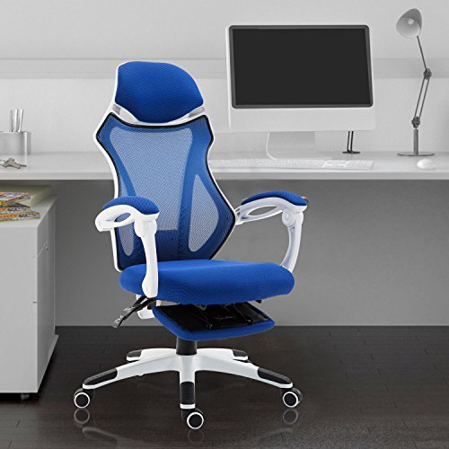 Homcom sedia da ufficio ergonomica girevole e reclinabile for Sedia design amazon