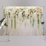 250x185cm Bridal Shower Large Wedding Floral Wall Backdrop Dessert Table Decoration Valentine's Day Background for Photography XT-6749