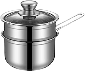 Stackable Stainless Steel Pressure Cooker Steamer Insert Pans with Sling Handle (Size : 18CM) (Color : -, Size : 18CM)