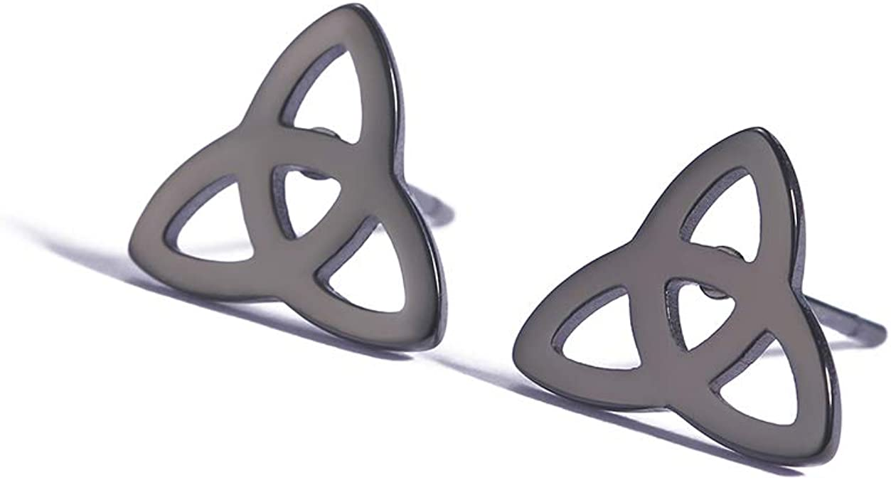 Geometric Triquetra Trinity Knot Stainless Steel Choker