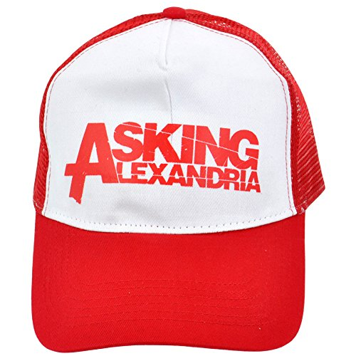 talla Alexandria Asking única Gorra Blanco de Rojo ZxEXgP