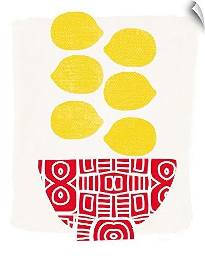 - Canvas on Demand Linda Woods Wall Peel Wall Art Print Entitled Bowl of Lemons 16