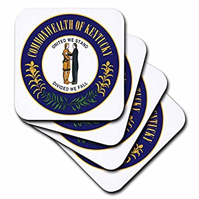 3dRose Sandy Mertens Kentucky - Great Seal of Kentucky (PD-US) - Coasters