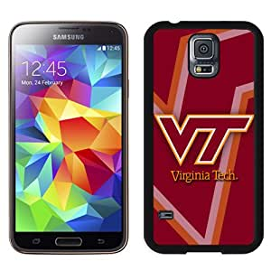 Fashionable And Unique Designed With NCAA Atlantic Coast Conference ACC Footballl Virginia Tech Hokies 5 Protective Cell Phone Hardshell Cover Case For Samsung Galaxy S5 I9600 G900a G900v G900p G900t G900w Phone Case Black