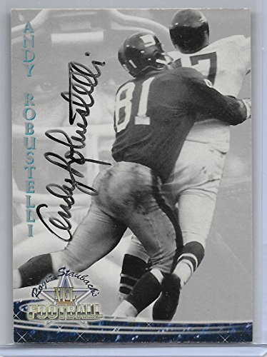 (1994 Roger Staubach's NFL Football Andy Robustelli Autographed Card # 40)