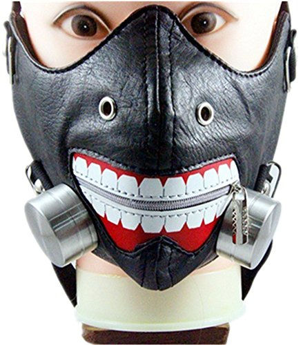 Qiu ping Men and women new ghouls tide people riveted Harley mask rock mask by Qiu ping