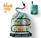 Car Seat Travel Gate Check Bag By Beastly Baby - Heavy Duty Air Traveling Storage & Carrying Bag For Toddler's Booster Seats & Infant's Convertible Carseats - Protection Against Dirt - Germs & Damage