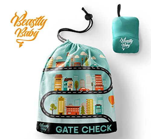 Best Price Car Seat Travel Gate Check Bag By Beastly Baby - Heavy Duty Air Traveling Storage & Carry...