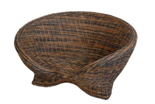 Lotus-Stuhl aus Rattan in der Farbe Zebrano - Versandkostenfrei in DE