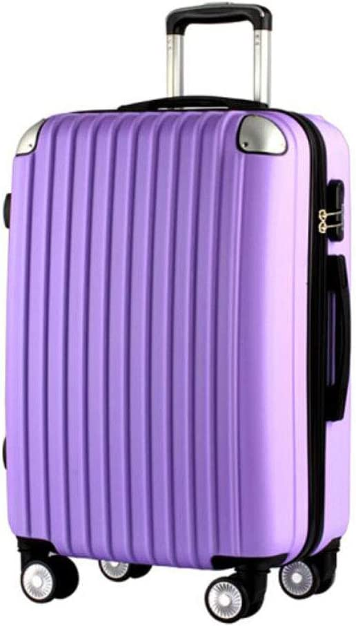 34 22 55 Black cm Aishanghuayi Suitcase for Stylish Men and Women Boarding Lock Boxes Color Color : Purple, Size : 171126 inch Size