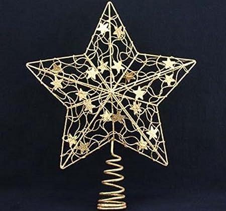 18.5cm Gisela Graham Iridescent Glitter Snowflake Fairy Christmas Tree Topper