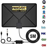 HDTV Antenna, Indoor antenna,Antenna TV Digital HD, 60-90 Miles Range with Support 4K 1080p & All Older TVs for Indoor with Powerful HDTV Amplifier Signal Booster-2018 Upgraded Version