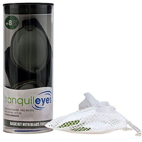 Tranquileyes Chronic Dry Eye Basic Kit with Beads (Black) (Red Eye Mask)