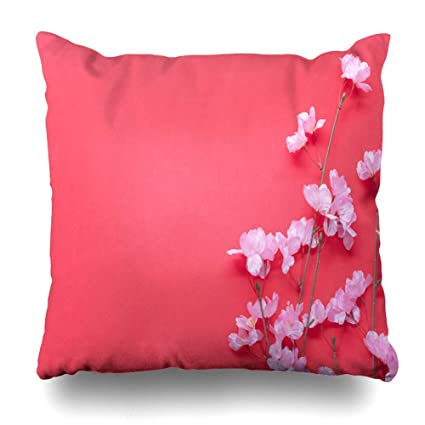 Amazon.com: Ahawoso Throw Pillow Cover Up Red Table Top View ...
