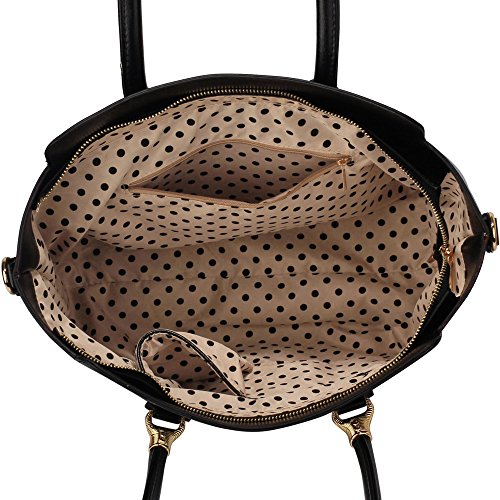 1 Tote White Handbag With Leather Shoulder Womens Handbag New Ladies Bag Designer Black Grab Design Strap Faux wqF6Ha5