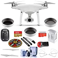 DJI Phantom 4 Pro Premium Kit - Bundle with 64GB/32 MicroSDXC Card, Spare Battery, Hardshell Backpack, Quick-Release Propellers, Propeller Guard, Collapsible Pad, LED Light Bars, ND Filters, and More