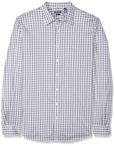 - Van Heusen Men's Size Slim Fit Traveler Long Sleeve Button Down Stretch Blue/White Shirt, Crisp Bright, 2X-Large Tall